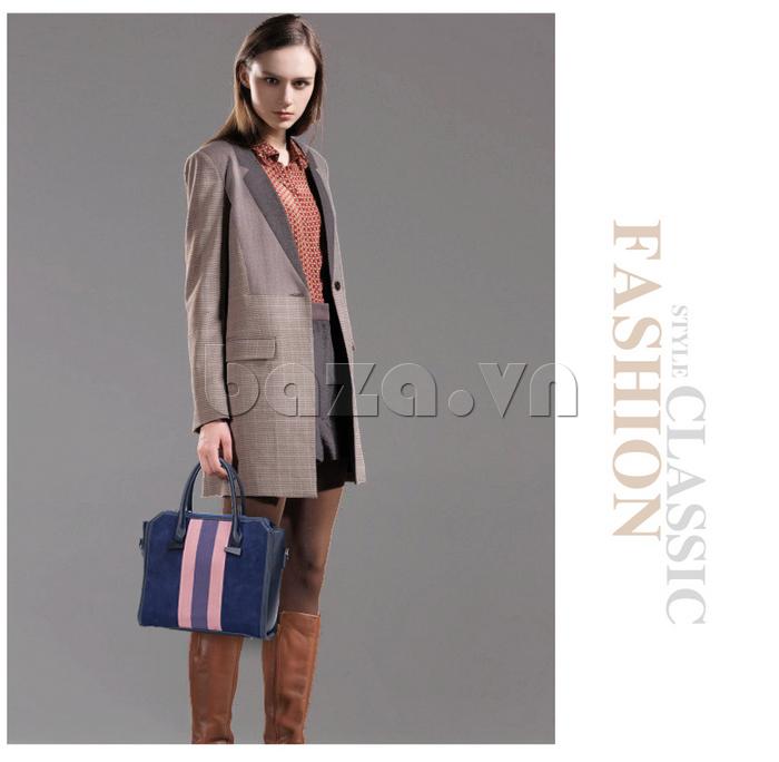 Túi xách nữ Binnitu 082 Thân túi nổi bật cá tính, ấn tượng