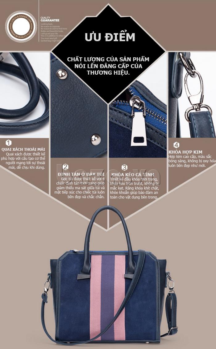 Túi xách nữ Binnitu 082 Thân túi nổi bật có nhiều ưu điểm đặc biệt, dễ sử dụng