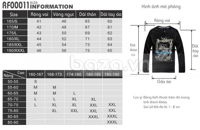 Áo thun nam dài tay lịch lãm K-Jeans KT-8812 kích cỡ đa dạng