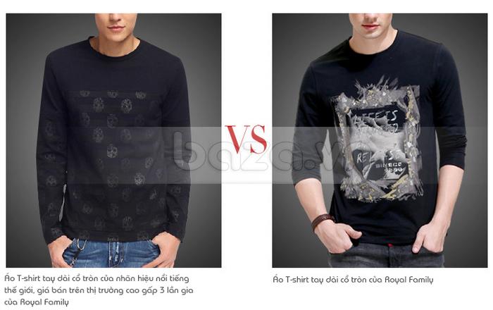 Áo thun nam dài tay lịch lãm K-Jeans KT-8812 chất lượng bền đẹp theo thời gian