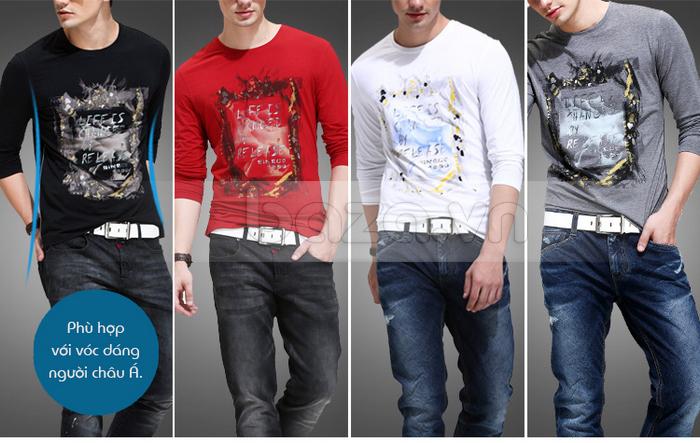 Áo thun nam dài tay lịch lãm K-Jeans KT-8812 nhiều màu sắc cho bạn lựa chọn