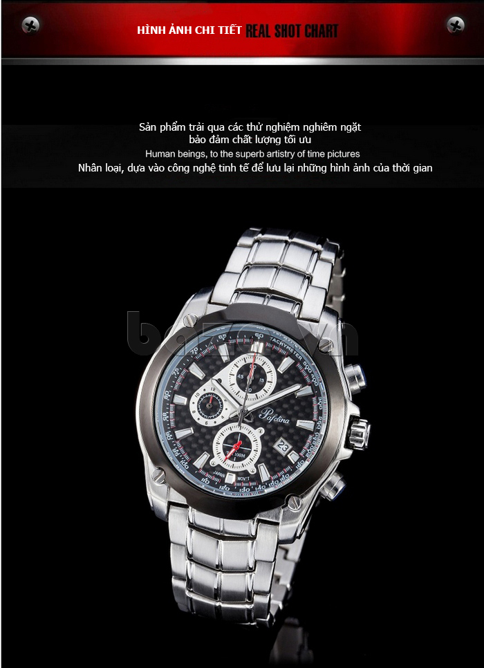 Đồng hồ thể thao nam Pafolina RA-3524 dạng 6 kim