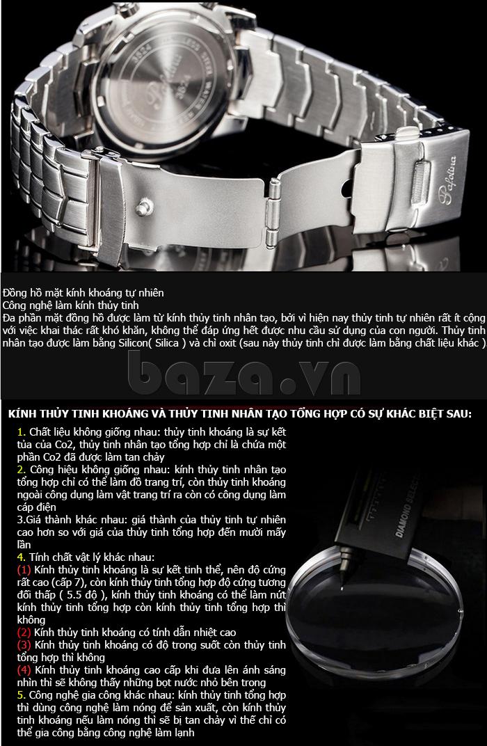 Đồng hồ thể thao nam Pafolina RA-3524 mặt kính khoáng cao cấp