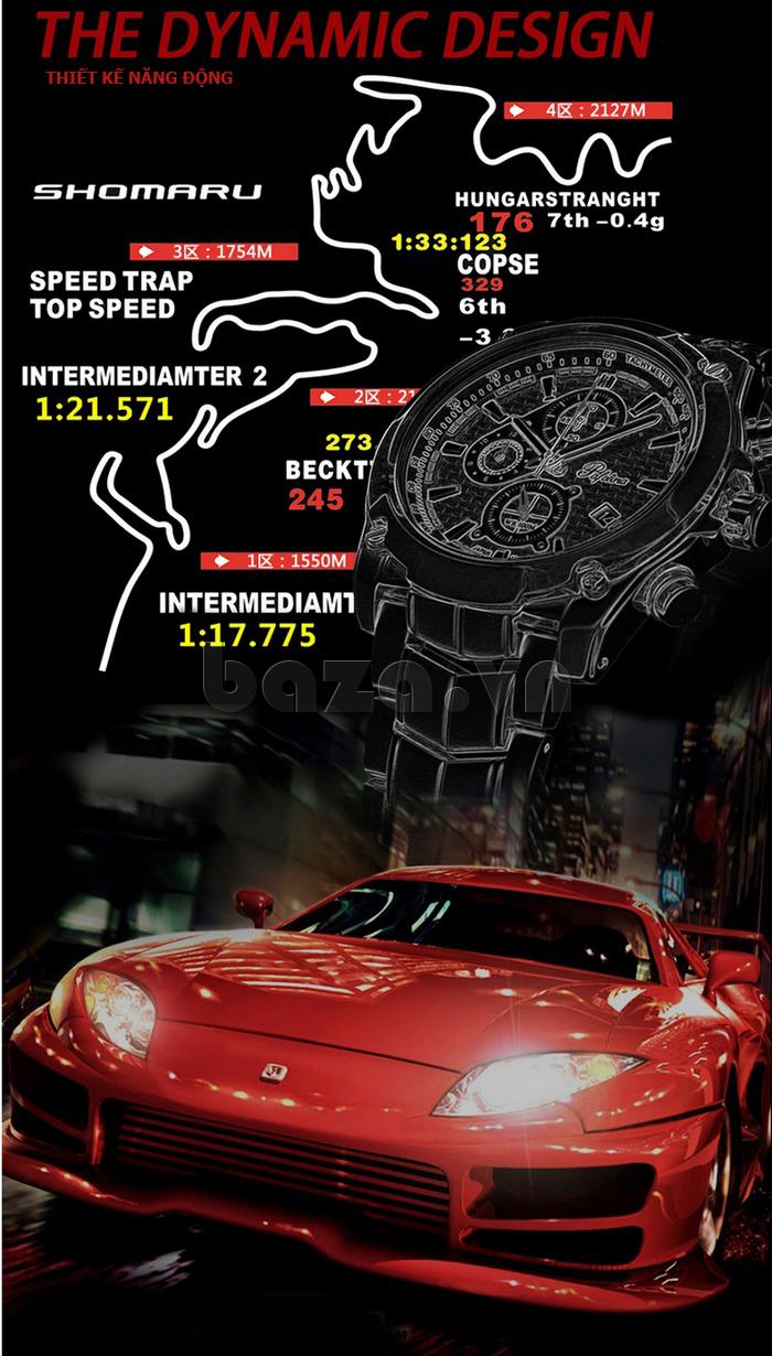 Đồng hồ thể thao nam Pafolina RA-3524 xe đua tốc độ