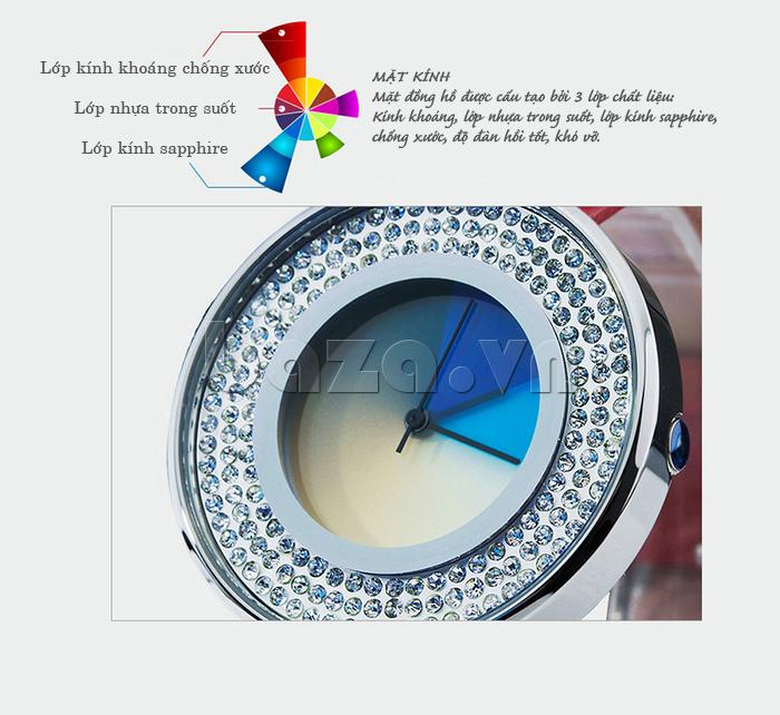 Đồng hồ thời trang Time2U 91-29048 viền đá cao cấp