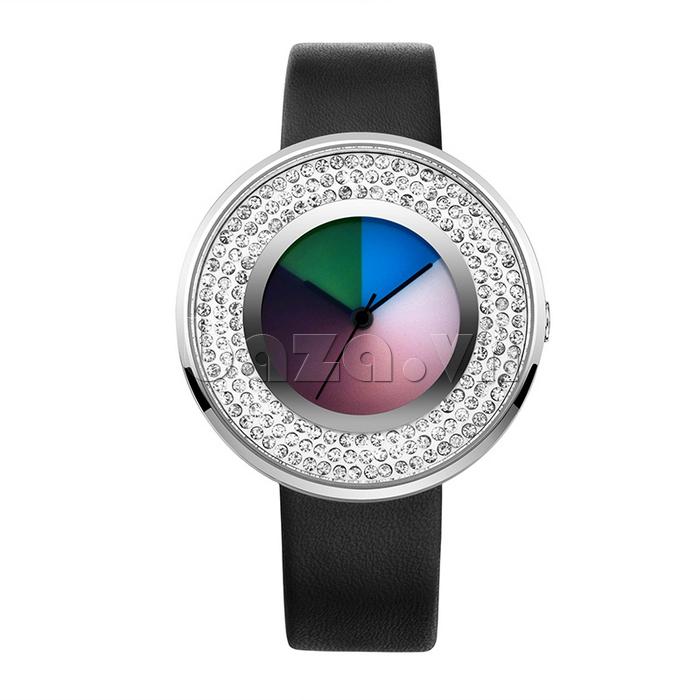 Đồng hồ thời trang Time2U 91-29048 dây da mềm mại