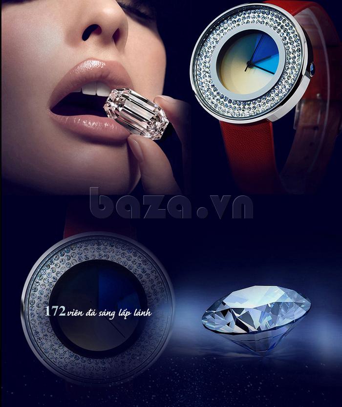 Đồng hồ thời trang Time2U 91-29048 sáng lấp lánh