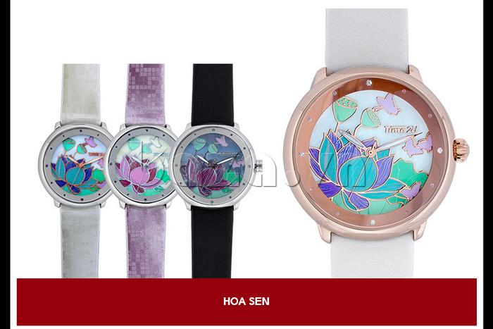 Đồng hồ nữ Time2U 91-18395 dây đeo màu sắc ấn tượng