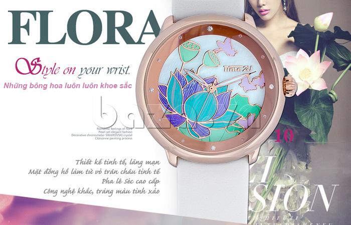 Đồng hồ nữ Time2U 91-18395 thiết kế tinh tế lãng mạn