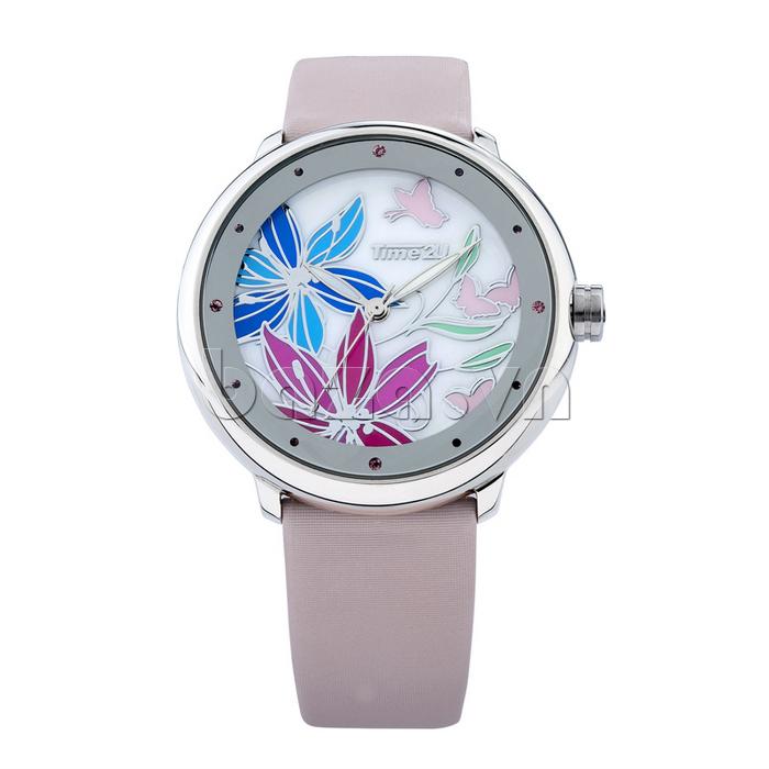 Đồng hồ nữ Time2U 91-18395 hoa lan sang trọng quý phái