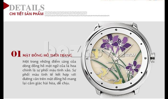 Đồng hồ nữ Time2U 91-18395 mặt đồng hồ thời trang