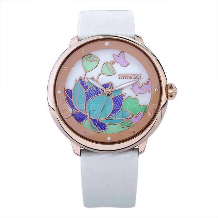 Đồng hồ nữ Time2U 91-18395 mặt tròn đơn giản