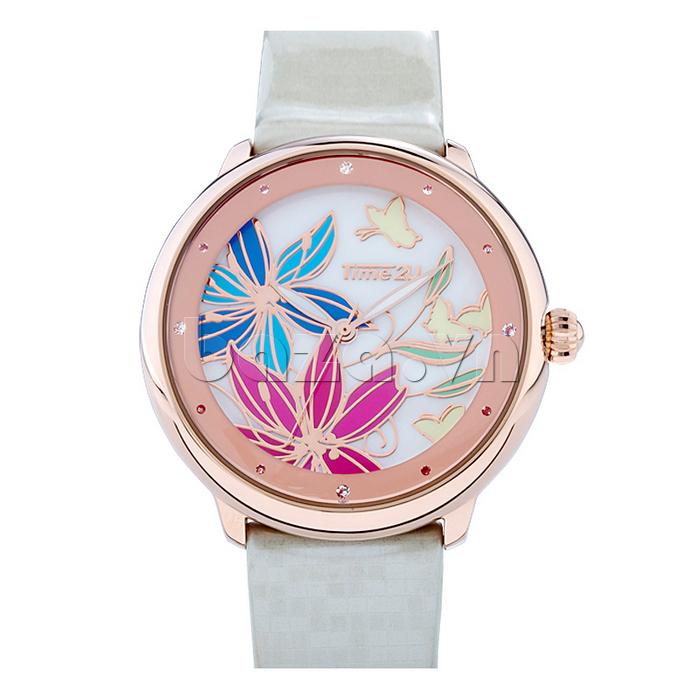 Đồng hồ nữ Time2U 91-18395 đính đá cao cấp