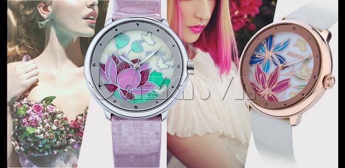 Đồng hồ nữ Time2U 91-18395 thiết kế tôn vinh vẻ đẹp cho bạn gái