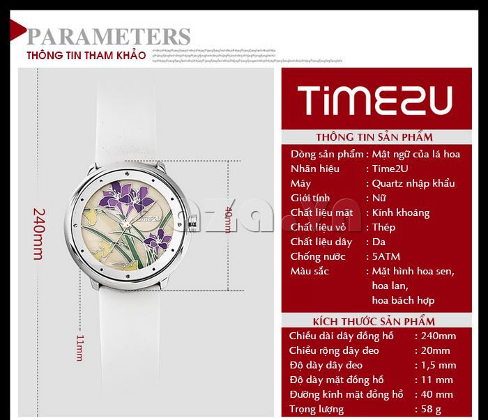 Đồng hồ nữ Time2U 91-18395 thông tin tham khảo của sản phẩm