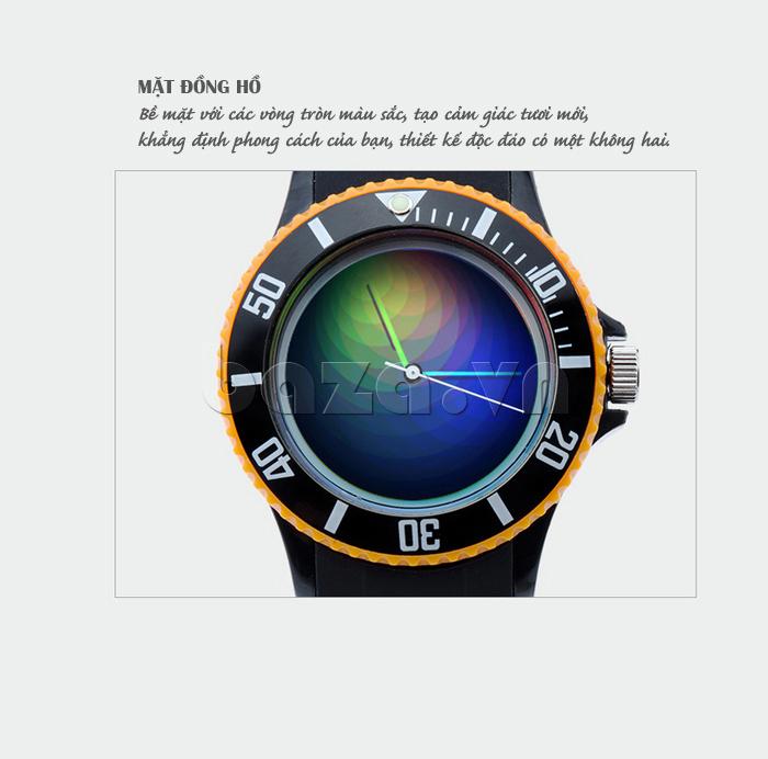Đồng hồ thời trang Time2U 92-17533 bề mặt tròn đơn giản nhưng cuốn hút