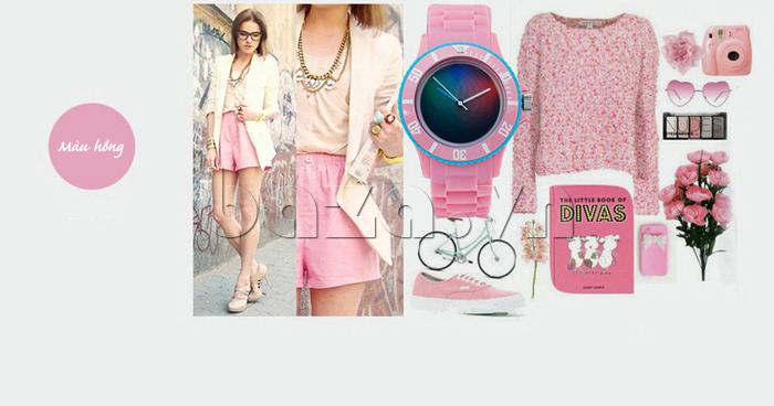 Đồng hồ thời trang Time2U 92-17533 màu hồng ngọt ngào