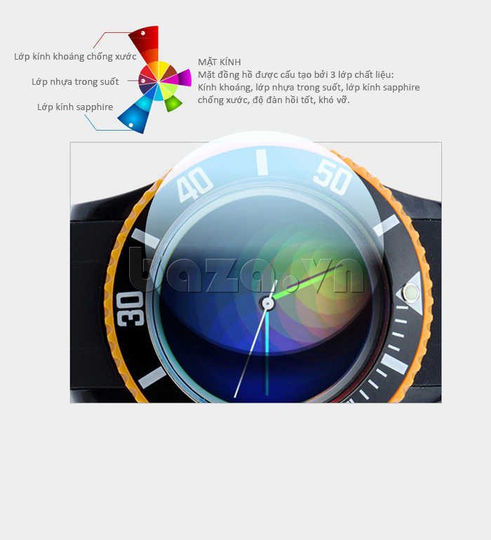 Đồng hồ thời trang Time2U 92-17533 lớp kính khoáng trong suốt