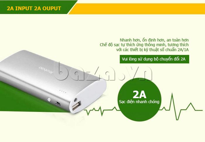 Pin dự phòng di động 10000mA Yoobao S5 ấn tượng
