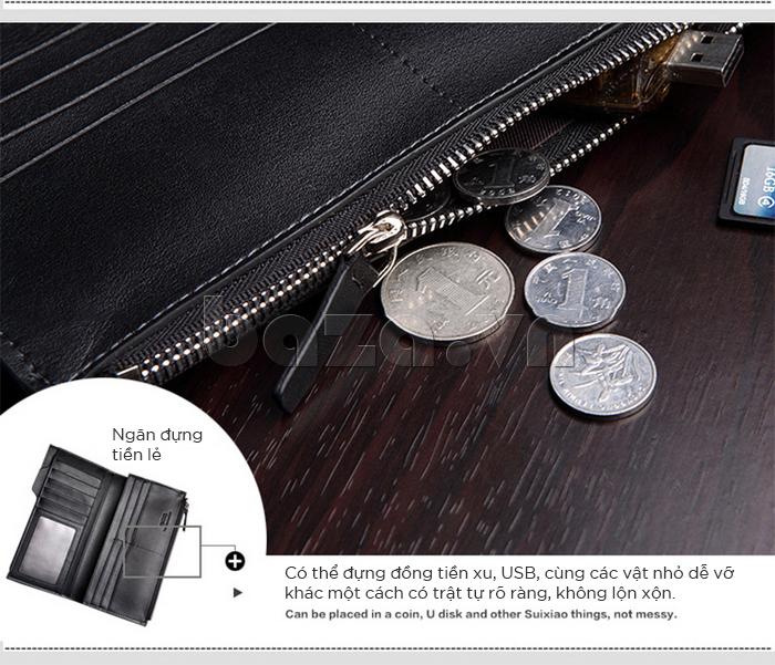Ngăn nhỏ có thể đựng đồng tiền xu, USB cùng các vật nhỏ khác một cách trật tự, rõ ràng, không lộn xộn