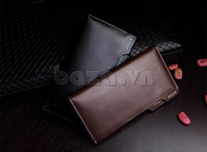 Ví da nam Feger 80059A  dòng ví dài cầm tay