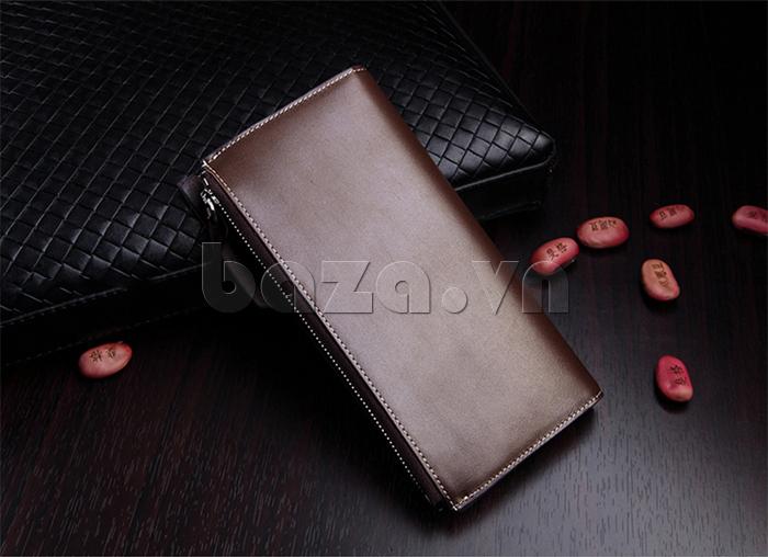Ví da nam Feger 80059A kiểu ví dài thời trang