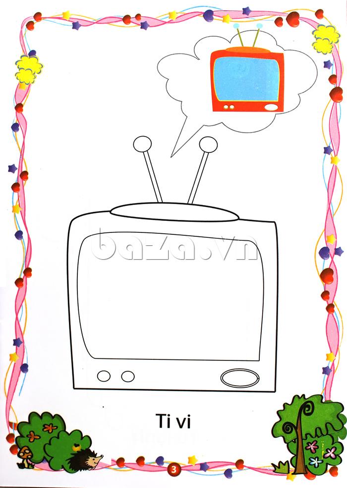 Bé Yêu Tô Màu 7 đồ Dùng Gia đình Bazavn