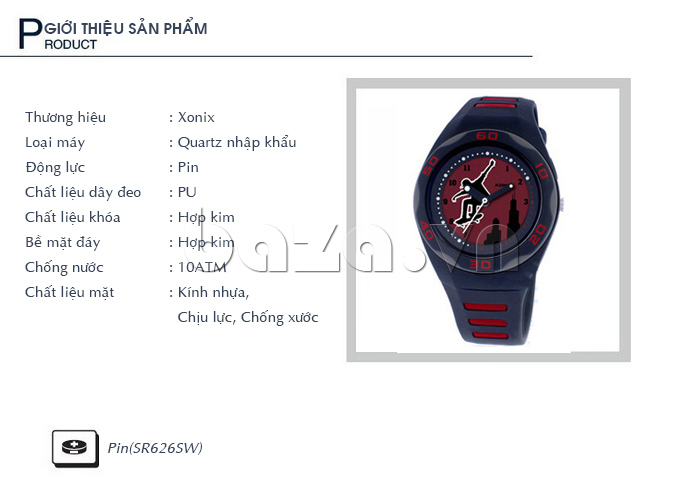 Đồng hồ thể thao Xonix RB thông tin sản phẩm