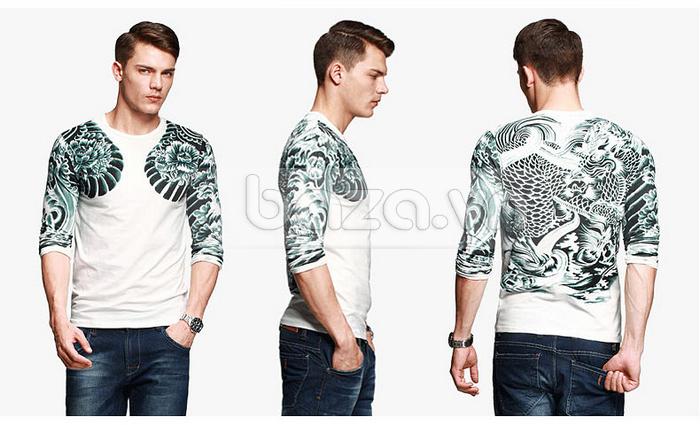 Baza.vn: Áo T-shirt nam thu đông MT-9917 dễ mix đồ