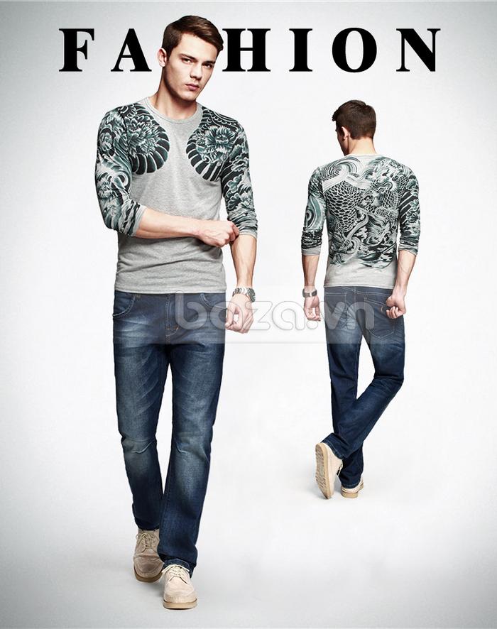Baza.vn: Áo T-shirt nam thu đông MT-9917