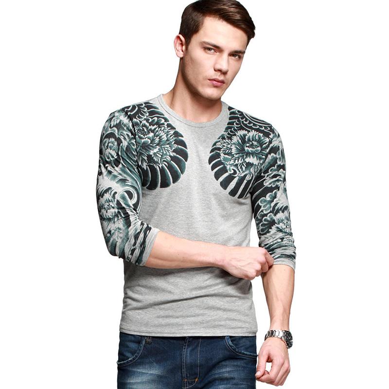 Áo thun nam dài tay K-Jeans MT-9917 họa tiết rồng