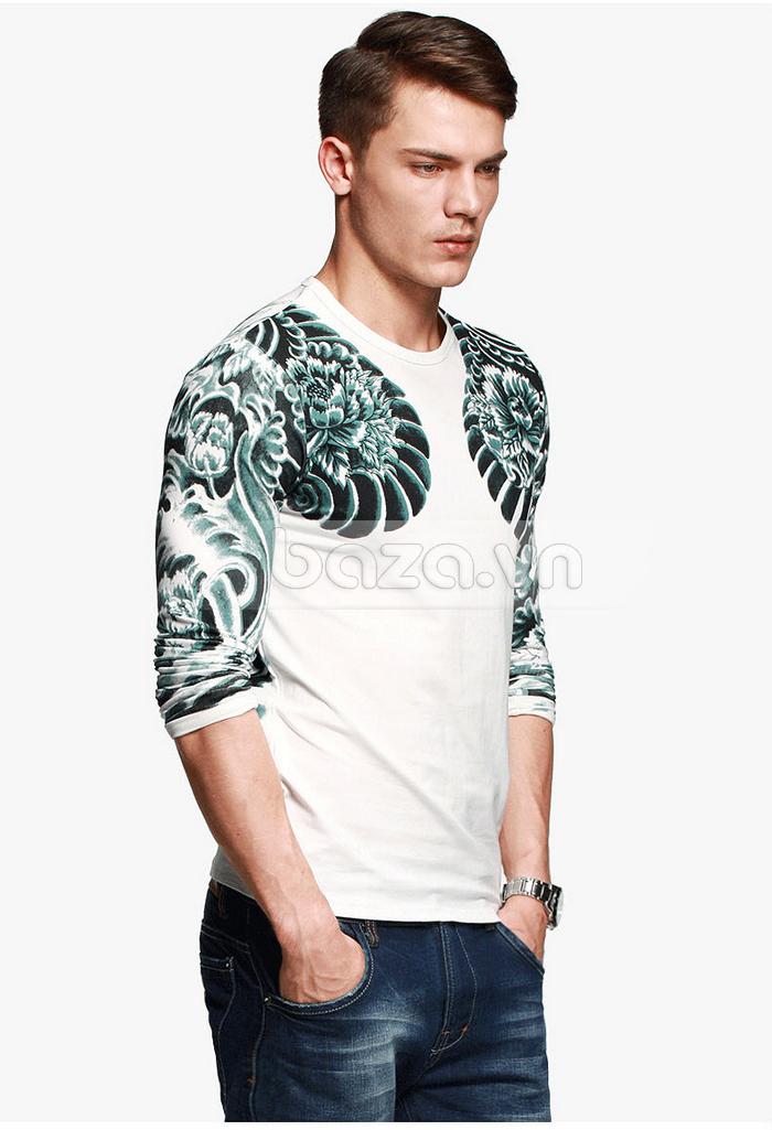 Baza.vn: Áo T-shirt nam thu đông MT-9917 chất vải cao cấp