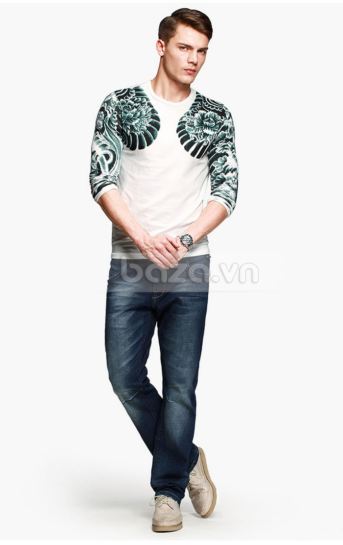 Baza.vn: Áo T-shirt nam thu đông MT-9917 cho bạn vẻ đẹp ấn tượng nhất mọi lúc mọi nơi