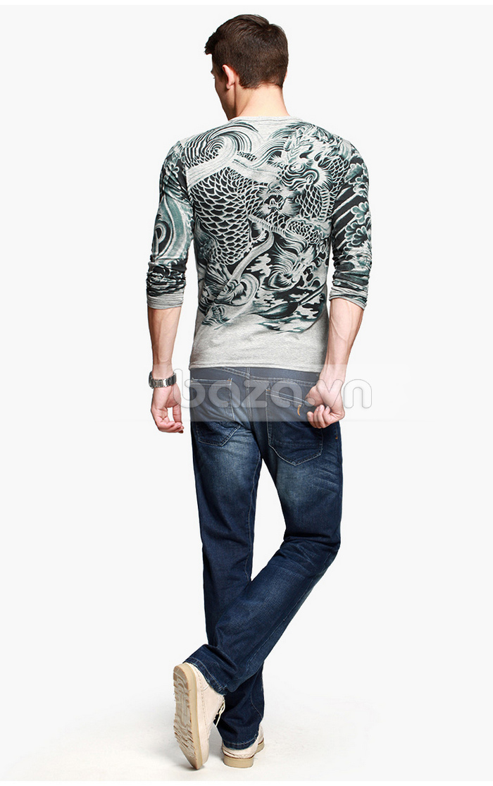 Baza.vn: Áo T-shirt nam thu đông MT-9917 đẹp ở mọi góc độ