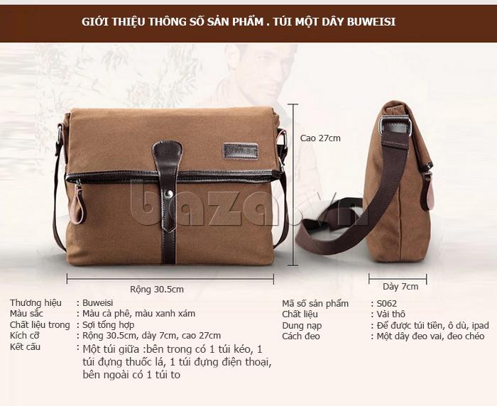 Túi đeo thời trang Buweisi S062 kiểu dáng túi một dây