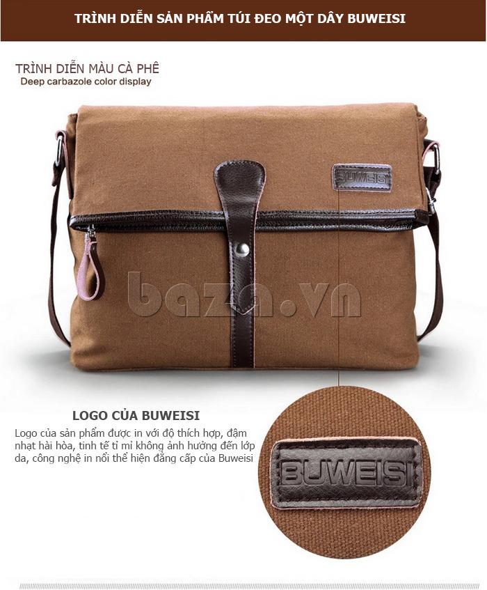 Túi đeo thời trang Buweisi S062 màu cà phê
