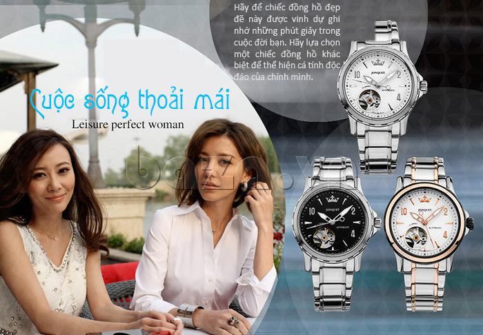 Hãy để chiếc đồng hồ nữ đẹp này được vinh dự ghi nhớ những phút giây trong cuộc đời bạn.