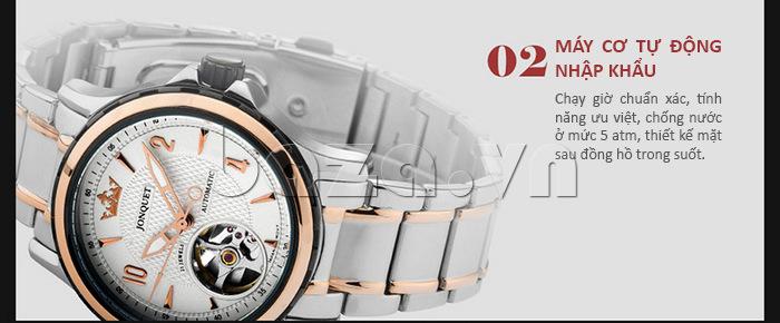 Máy cơ tự động nhập khẩu chạy giờ chuẩn xác với nhiều tính năng ưu việt thể hiện dòng đồng hồ đẳng cấp
