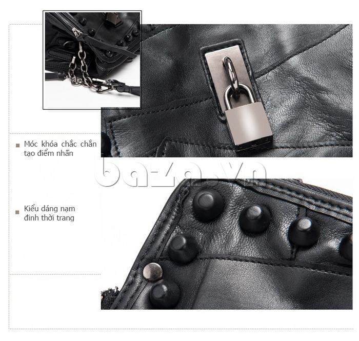 Túi đeo nữ da dê style Rock Chic Binnitu 8036
