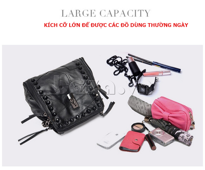 Túi nữ thời trang style Rock Chic Binnitu 8036