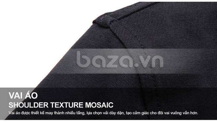 Vai áo được thiết kế may thành nhiều tầng, lựa chọn vải dày dặn, tạo dáng cho vai
