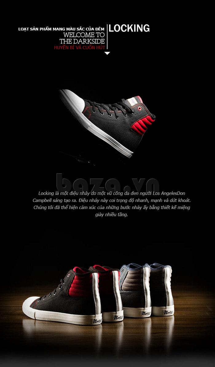 giày vải nam Notyet NY-LD3309  - sắc màu của bóng đêm