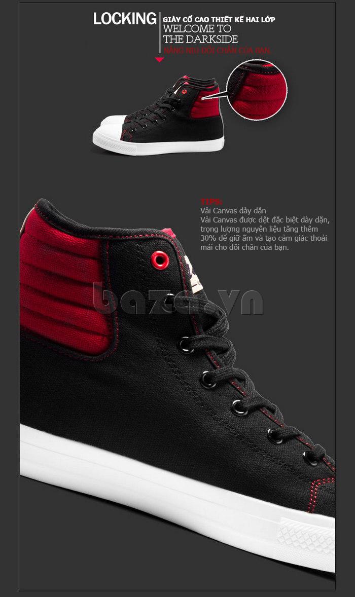 giày vải nam Notyet NY-LD3309 được làm từ vải canvas mềm mại nhưng dày dặn
