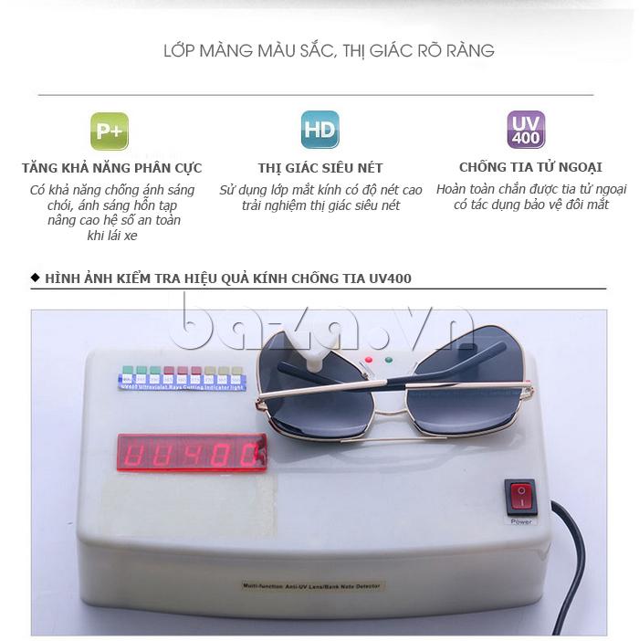 Kiểm tra khả năng chống tia UV của Kính râm phân cực Unisex BLSBlues 15050