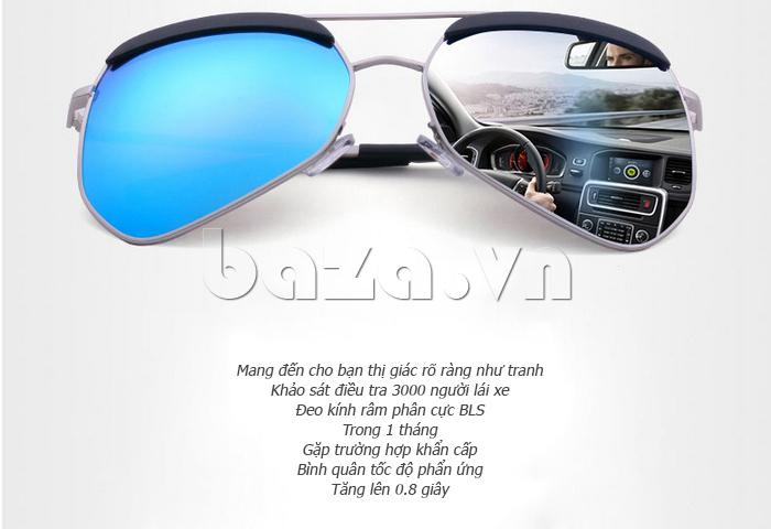 Kính râm phân cực Unisex BLSBlues 15050 - cho bạn lái xe an toàn