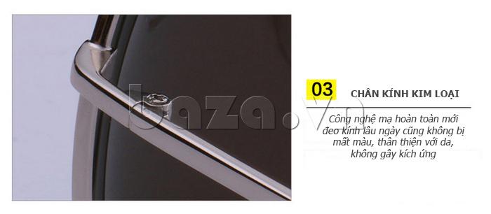 Kính râm phân cực Unisex BLSBlues 15050 - chân kính kim loại hiện đại