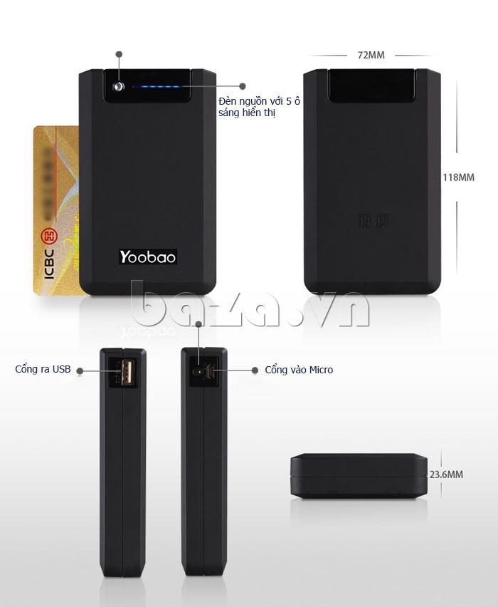 Pin dự phòng di động 13000mA Yoobao YB-655pro cần thiết