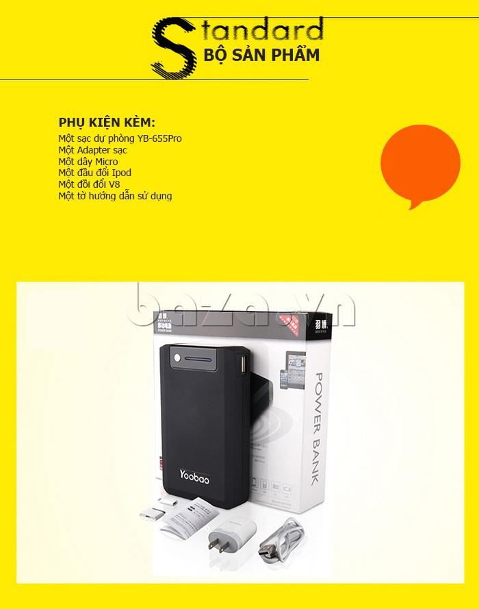 Pin dự phòng di động 13000mA Yoobao YB-655pro bền đẹp
