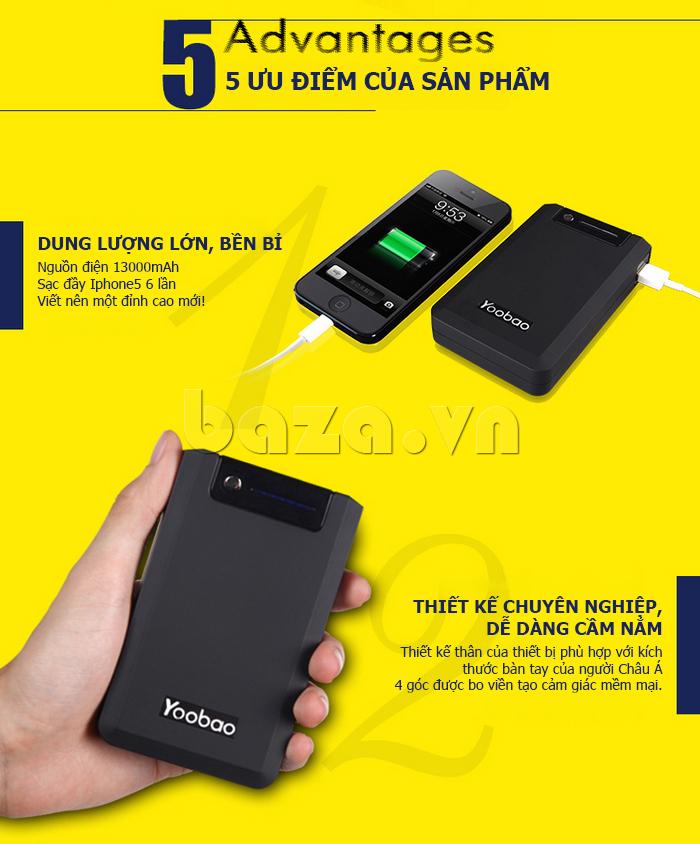 Pin dự phòng di động 13000mA Yoobao YB-655pro đẹp