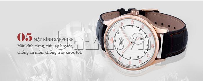 Đồng hồ nam Time2U 91-18958 mặt kính sapphire